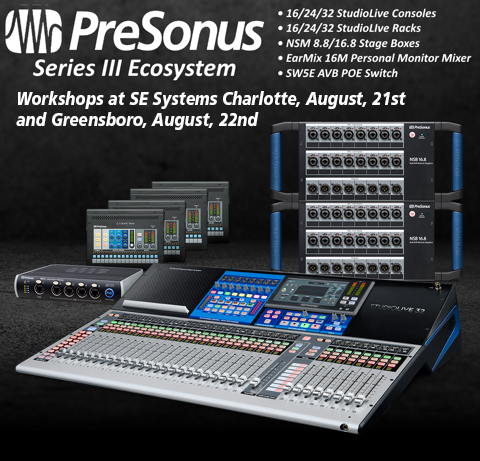 PreSonus Workshop 2018