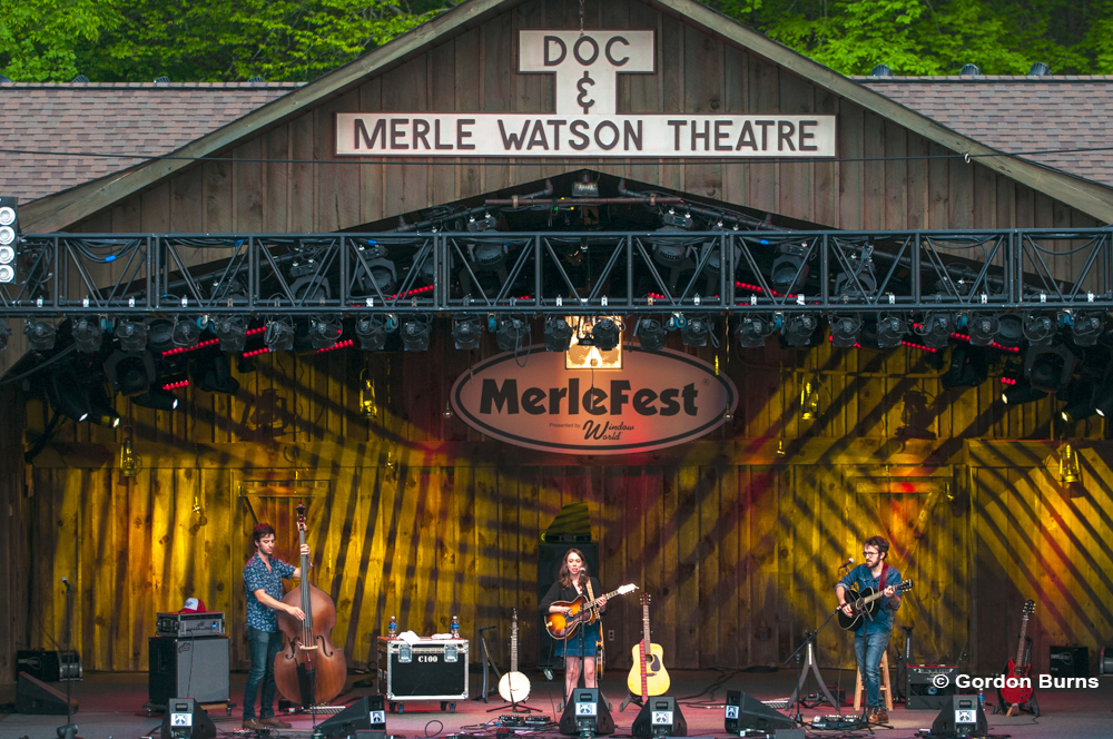 Lighting the Watson Stage at MerleFest 2017