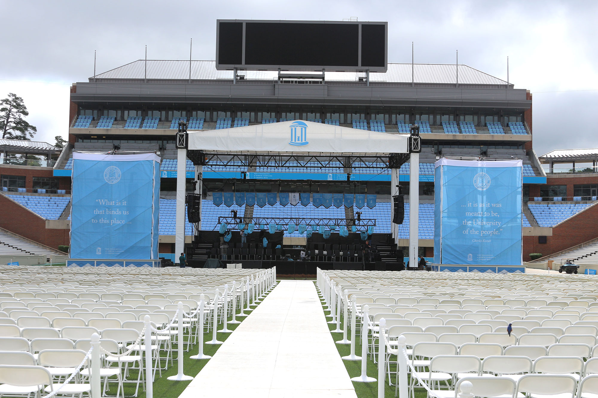UNC-CH 2017 Commencement Set-Up