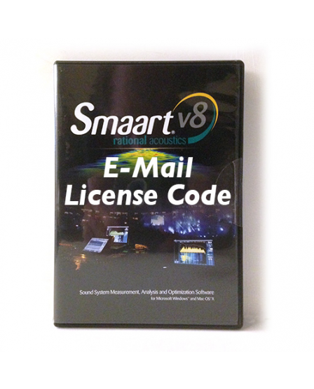 Rational Acoustics Smaart v8 License Code only, Delivered via e-mail. Comes with 2 installs. RA-SM8LC