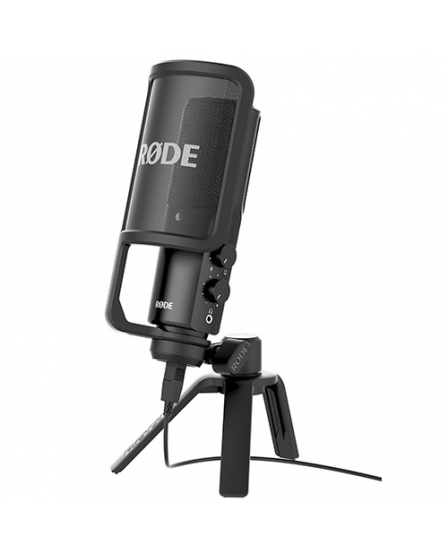 Rode Microphones NTUSB Versatile USB condenser microphone with zero latency monitoring and plug & play operation.