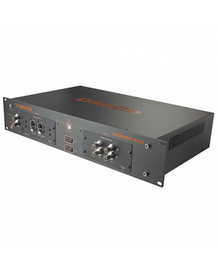 DiGiCo Orange Box with 2 DMI Blank Slots, 2 RU Dual PSU