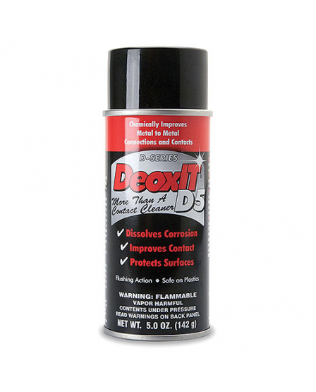 Hosa D5S-6 CAIG DeoxIT Contact Cleaner, 5% Spray, 5 oz