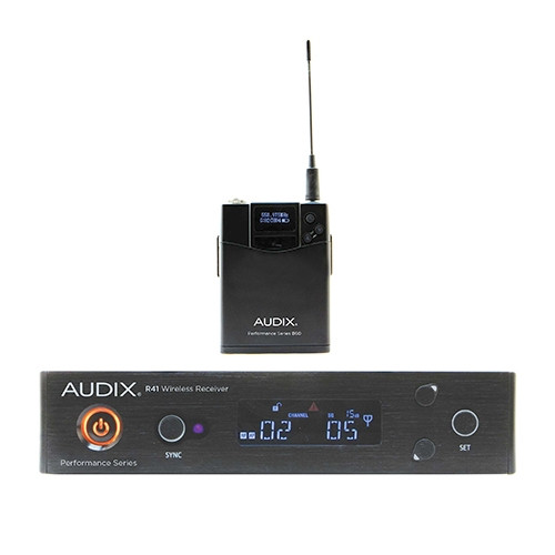 Audix AP41BPA Wireless,R41 receiver with B60 bodypack transmitter only. No microphone. Body Pack Only. Frequency A