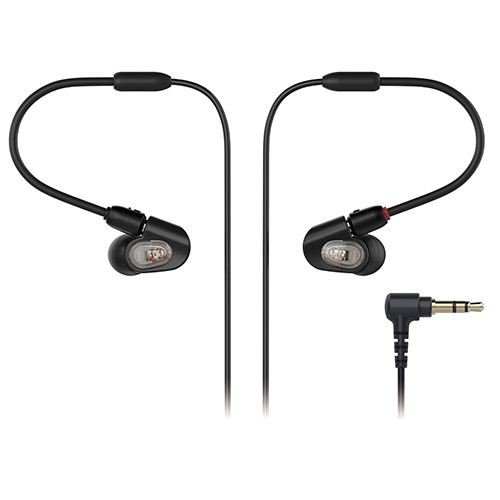 Audio-Technica ATH-E50 Professional In-Ear Monitor Headphones, flexible memory cable