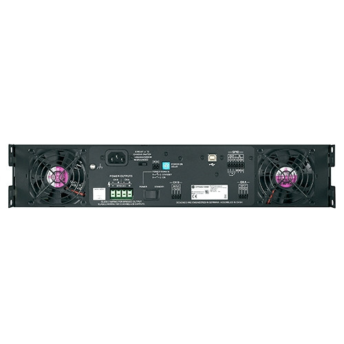 Dynacord Electronics C3600FDI-US DSP power amplifier 2x1800W, install. With FIR drive, Phoenix connectors.