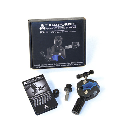 Triad Orbit IO-C Mounting Clamp with IO Quick‑Change Coupler