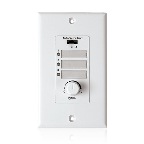 Atlas WPD-RISRL Wall Plate Input Select Switch with Volume Control 10k Pot and Input Indicator