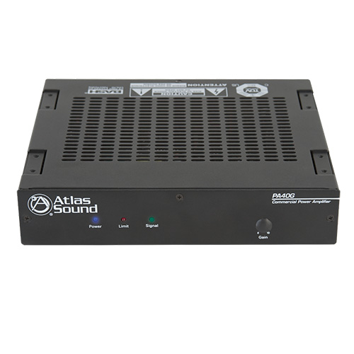 Atlas PA40G 40W Single Channel Power Amplifier with Global Power Supply