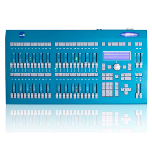 Leviton PPIC0-V24 Piccolo 96 channel, 32 attribute lighting console with 2x24 faders. With video option installed.