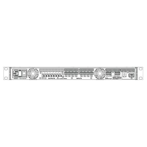 Powersoft Ottocanali 1204 DSP+ETH 8-channel Multi-zone Installation Power Amp, 8x150w at 4 ohms