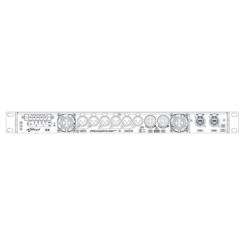 Powersoft X4 DSP+DANTE 4-Channel High Performance Power Amplifier, 4x5200w at 2 ohms, 1RU