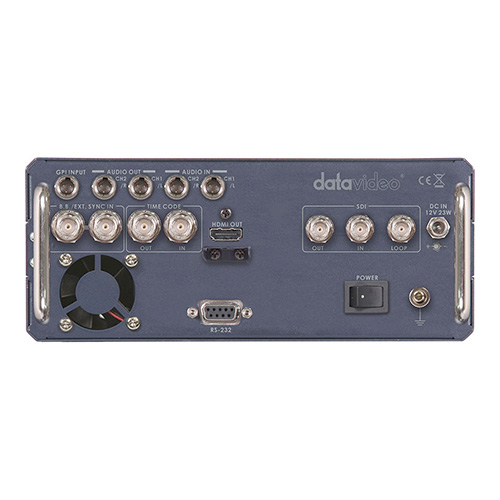 DataVideo HDR60 HD/SD-SDI recorder with one 320 GB HDD removable HDD.