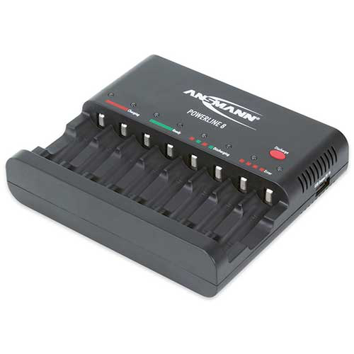 Ansmann Powerline 8 Battery Chargers, 1001-0006-US Battery Charger