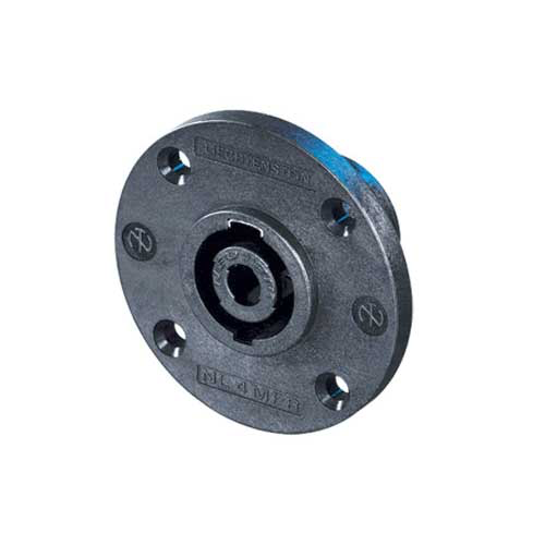 Neutrik NL4MPR 4-Pin Male SpeakOn Receptacle Round Flange