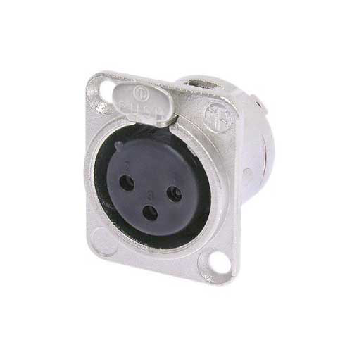 Neutrik NC3FD-L-1 XLR3F Receptacle Nickel