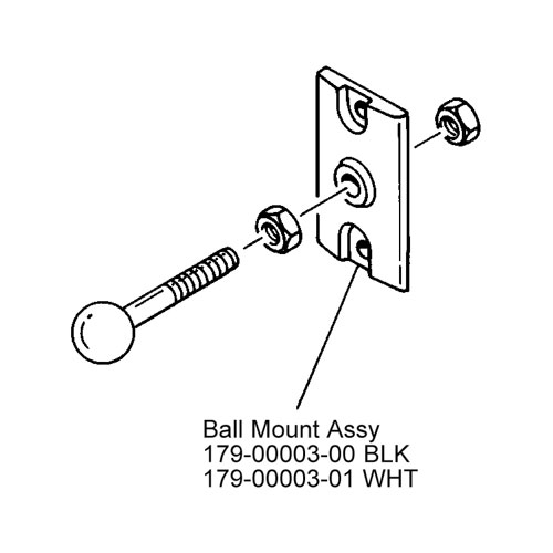 JBL 179-00003-00 CONTROL 23 Black Invisiball Assembly