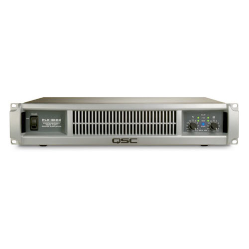 QSC PLX3602 Dual channel Power Amplifier with PowerLight technology, 1250 watts/ch at 4Ω, 1800 watts/ch at 2Ω