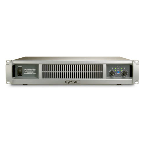 QSC PLX2502 Dual channel Power Amplifier with PowerLight technology, 750 watts/ch at 4Ω, 1250 watts/ch at 2Ω