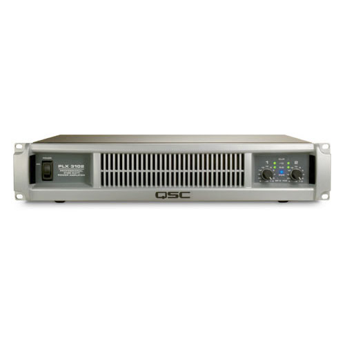 QSC PLX3102 Dual channel Power Amplifier with PowerLight technology, 1000 watts/ch at 4Ω, 1550 watts/ch at 2Ω