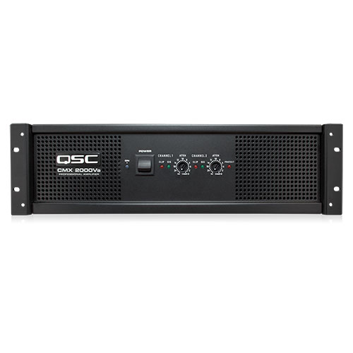 QSC CMX800Va 2 Channel Contractor Power Amplifier, 2000 Watts, 4 ohms