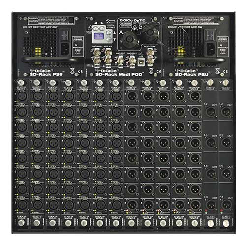 DiGiCo SD Rack 192kHz, Multi-Mode HMA 10RU Rack, 7 Input Slots & 7 Output Slots,