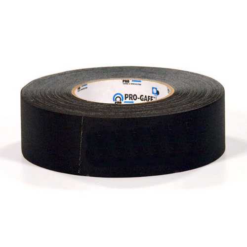 Gaff Tape PTS GT255BK Black Gaff Tape, 2 inch x 55 Yards