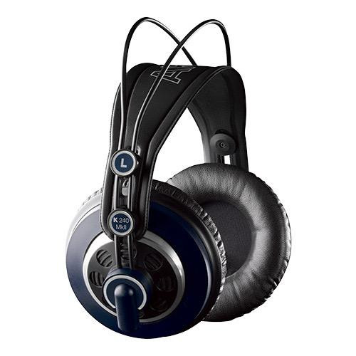 AKG K240 MKII, Semi open, circumaural, detachable cable additional velvet ear pad, additional 5m coiled cable; stage blue