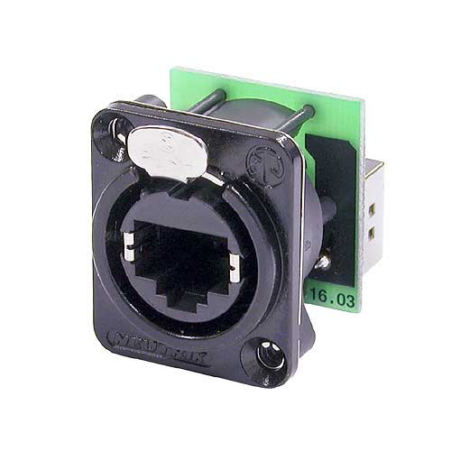Neutrik NE8FDP-B RJ45 etherCON Feedthrough Receptacle