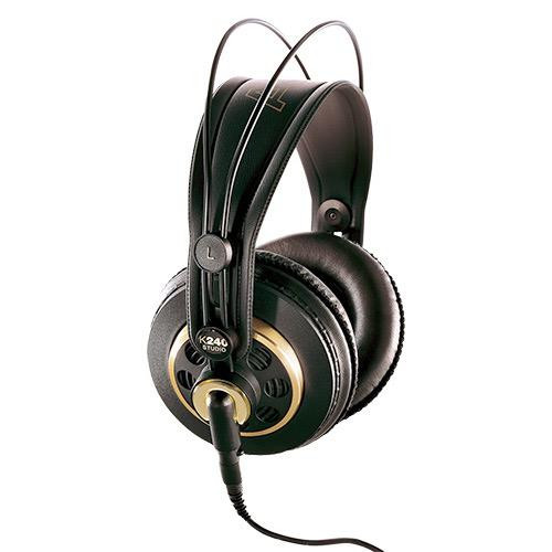 AKG K240 STUDIO, Semi open, circumaural studio headphone with artificial leather ear pads, classic gold/black trim, detachable cable
