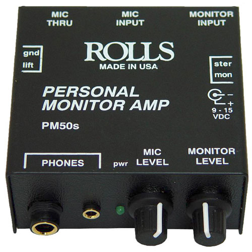 Rolls PM50s In-Ear Personal Monitor Amplifier