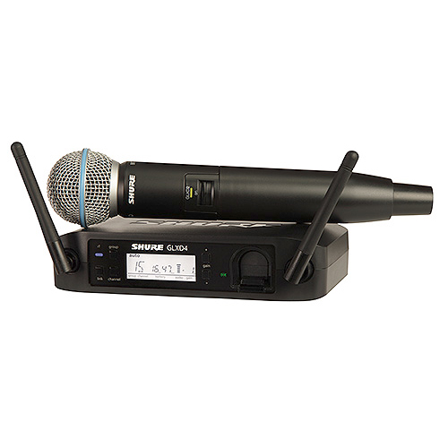 Shure GLXD24/BETA 58 Digital Wireless Handheld System with Beta 58 Transmitter, Z2 Band