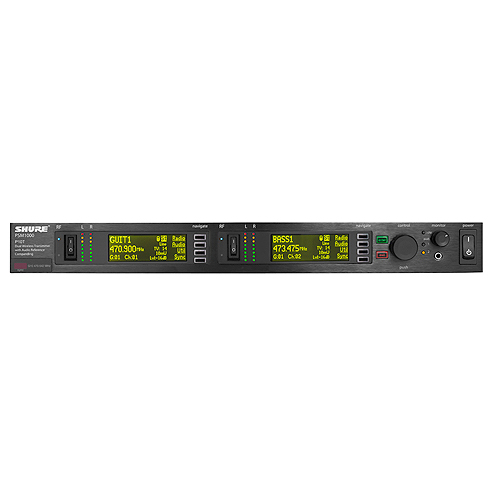 Shure P10T-G10 PSM®1000 Dual Rack Unit Transmiitter, G10 Frequency