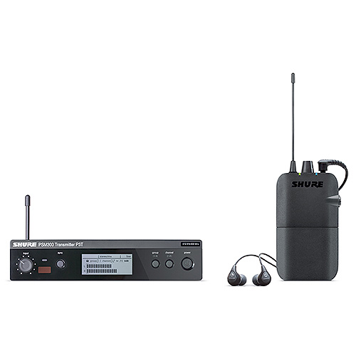 Shure P3TR112GR PSM300 Series IEM Wireless System with SE112-GR Earphones, G20 Frequency