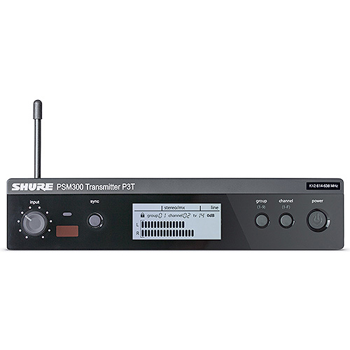Shure P3T PSM300 Series IEM Wireless Transmitter, G20 (488-511 MHz)