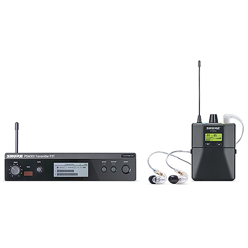 Shure P3TRA215CL-G20 PSM300 Wireless System With SE215-CL Earphones, G20 Frequency