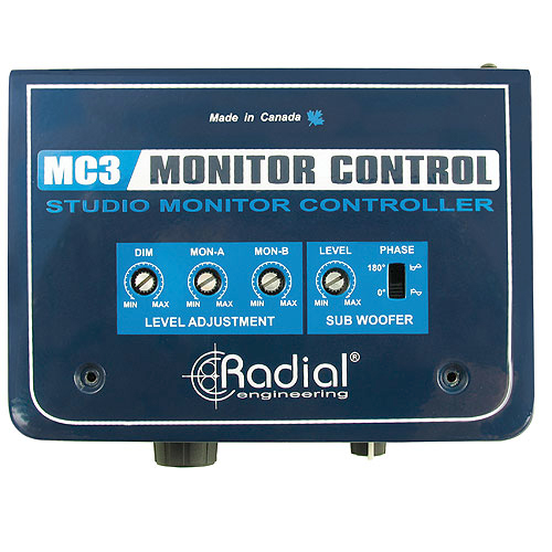 Radial MC3 Passive studio monitor switcher with headphone amp