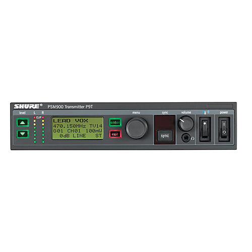 Shure P9T PSM900 Series Wireless Transmitter, G6 Frequency