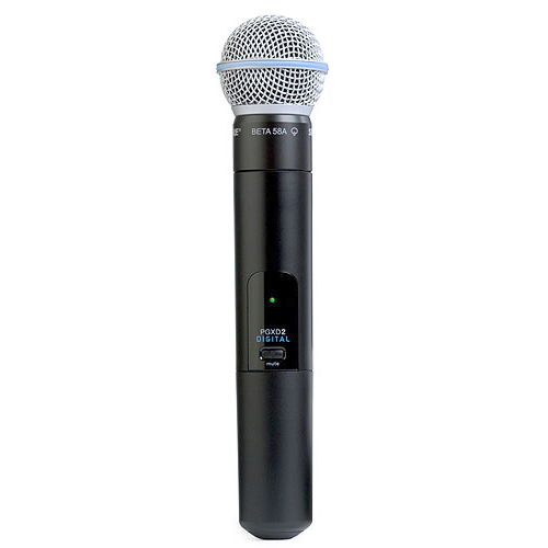 Shure PGXD2/BETA58-X8 Handheld Transmitter with BETA58 Microphone