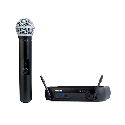 Shure PGXD24/PG58 Digital Wireless System with PG58 Transmitter, X8 Frequency