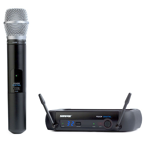 Shure PGXD24/SM86 Digital Wireless System with SM86 Transmitter, X8 Frequency