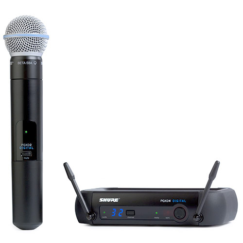 Shure PGXD24/Beta58 Digital Wireless System with Beta 58 Transmitter, X8 Frequency
