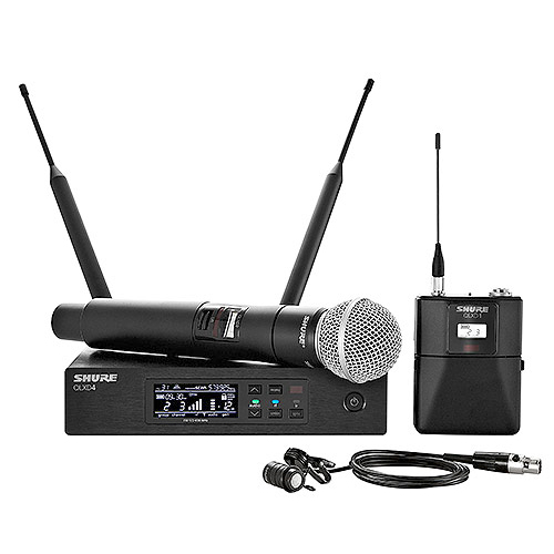 Shure QLXD124/85-G50 Bodypack and Vocal Combo System with WL185 and SM58. Frequency G50 (64 MHz) 470 – 534 MHz