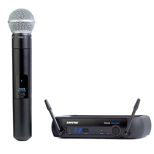 Shure PGXD24/SM58-X8 Digital Wireless System with SM58 Handheld Transmitter, X8 Band