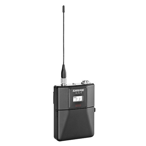 Shure QLXD1 Bodypack Transmitter, Frequency G50 (64 MHz) 470 – 534 MHz