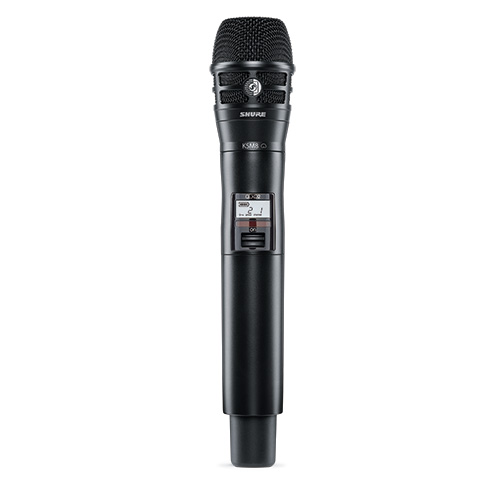 Shure QLXD2/K8B-G50 Handheld Transmitter with Black KSM8 Microphone, Frequency G50 (64 MHz) 470 – 534 MHz
