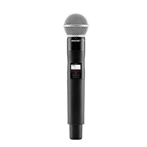 Shure QLXD2/SM58-G50 Handheld Transmitter with SM58 Microphone, Frequency G50 (64 MHz) 470 – 534 MHz