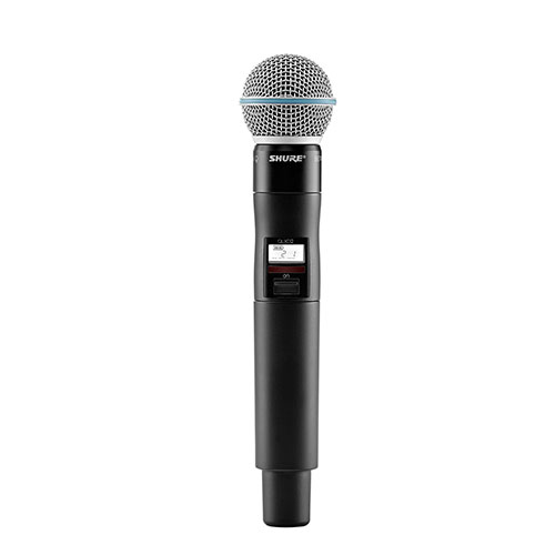 Shure QLXD2/B58-G50 Handheld Transmitter with Beta 58A Microphone, Frequency G50 (64 MHz) 470 – 534 MHz