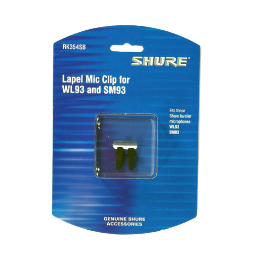 Shure RK354SB Black Single Mount Tie-Clips (Contains Two)