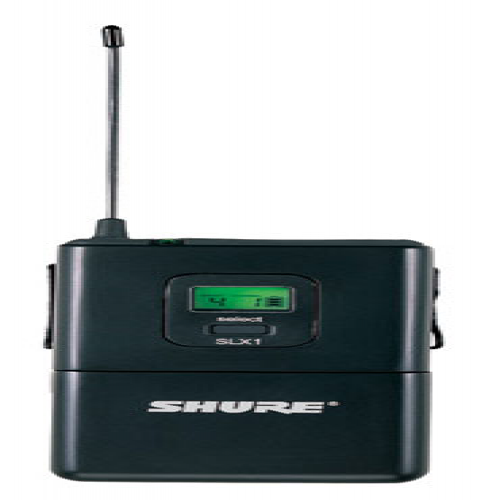 Shure SLX14-G4 Wireless Bodypack system with WA302 Instrument Cable. Frequency G4 (24 MHz) 470-494